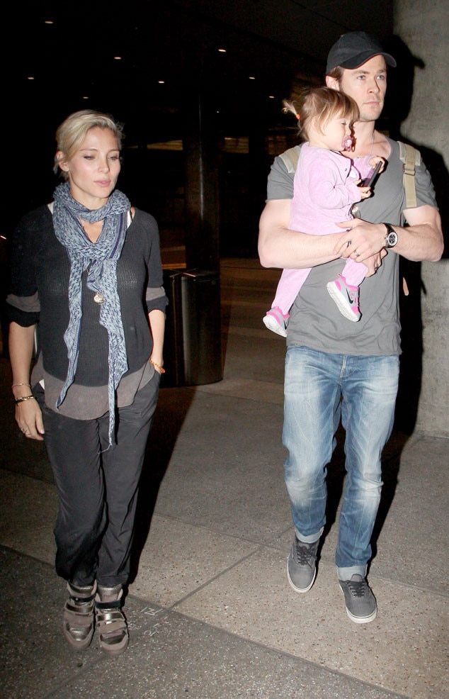 Chris Hemsworth, Elsa Pataky, India Rose
