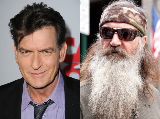 Charlie Sheen, Phil Robertson