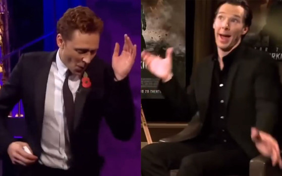 Tom Hiddleston, Bendict Cumberbatch