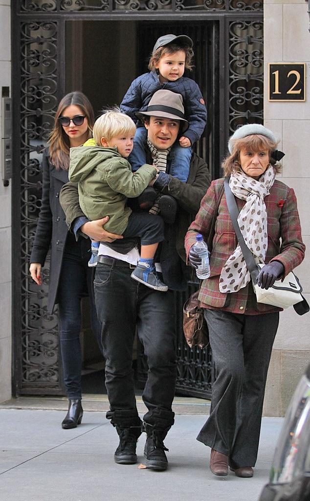 Miranda Kerr, Flynn Bloom, Orlando Bloom