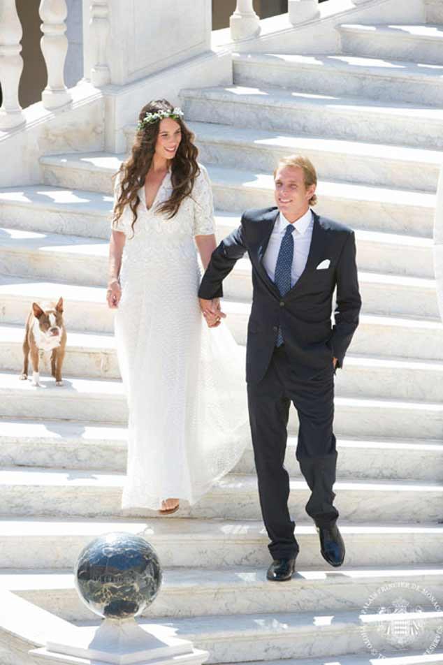 Tatiana Santo Domingo, Andrea Casiraghi, Wedding