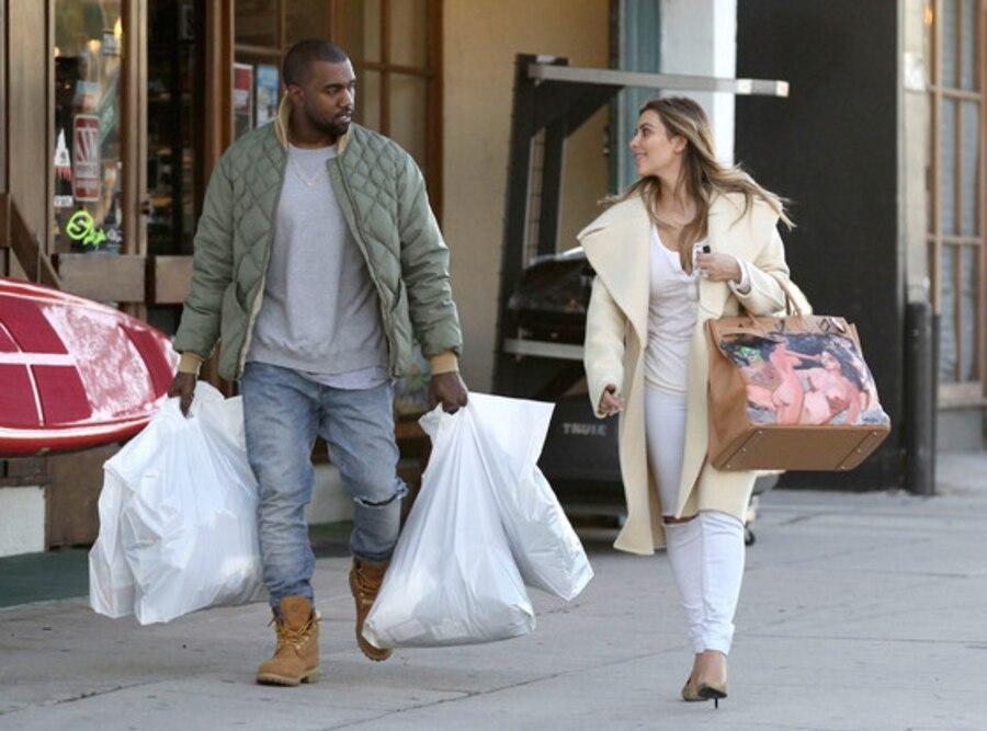 Kim Kardashian, Kanye West, Shopping