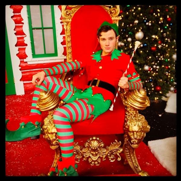 Chris Colfer, Christmas Instagram