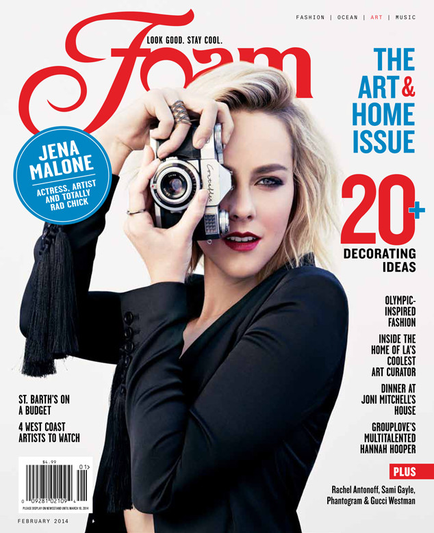 the hunger games catching fire 39 s jena malone covers foam magazine e news. Black Bedroom Furniture Sets. Home Design Ideas