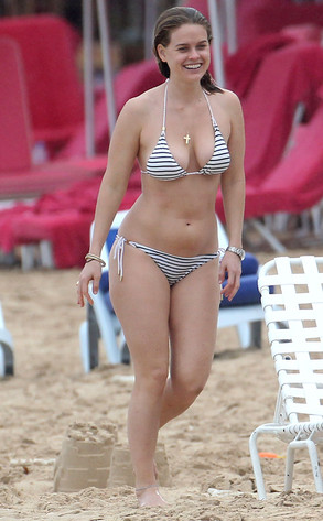 All Around Auto >> Alice Eve Flaunts Bikini Body, Horses Around With Brothers on the Beach in Barbados | E! News
