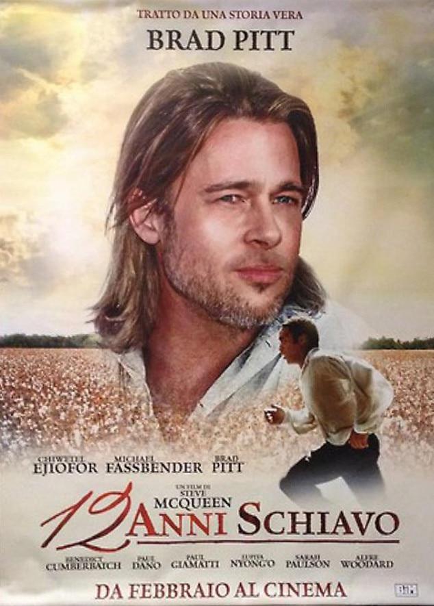 Brad Pitt, 12 Years a Slave Italian Poster