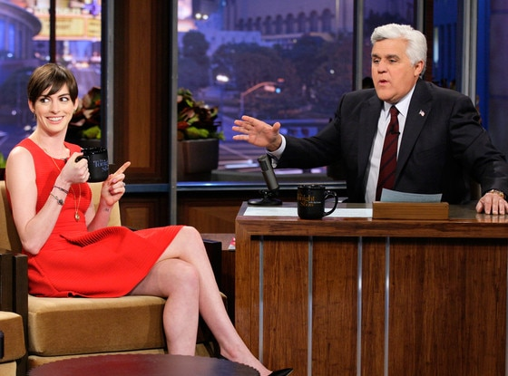 Anne Hathaway, Jay Leno