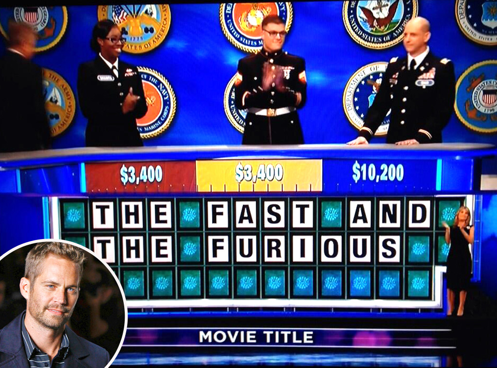 Paul Walker, Wheel Of Fortune