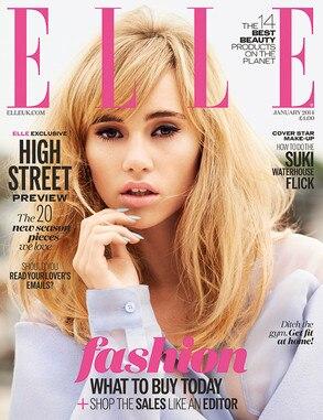 Suki Waterhouse, Elle UK, Cover