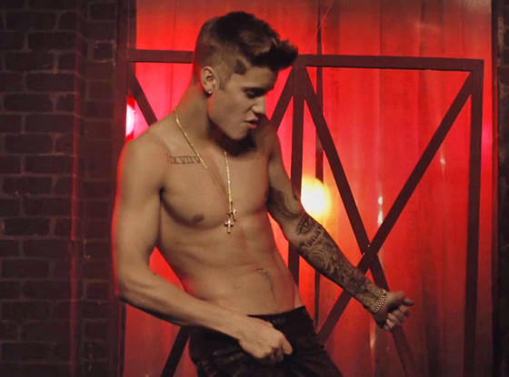 Justin Bieber, All That Matters Video, Shirtless