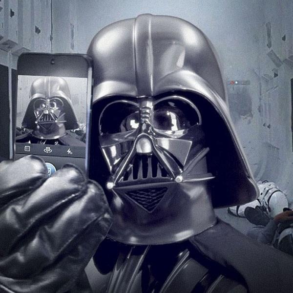 Darth Vader Selfie, Star Wars Instagram