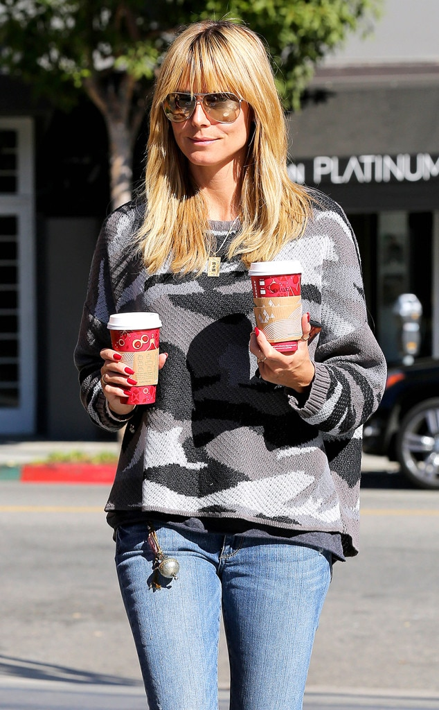 Heidi Klum, Starbucks Holiday Red Cups