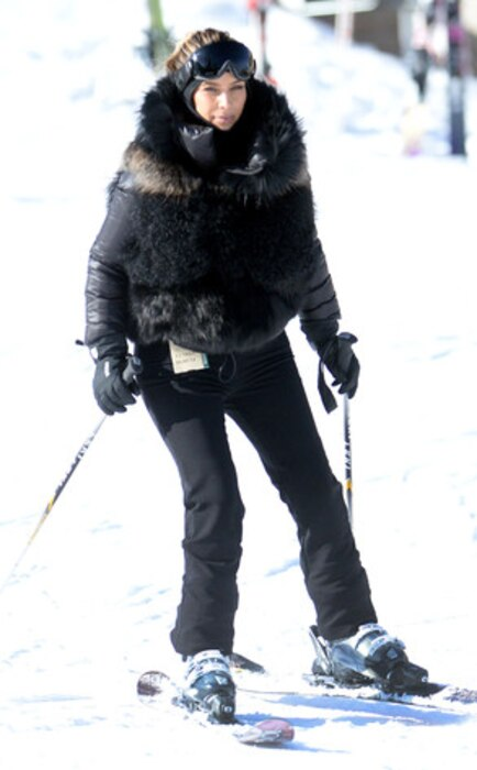 Kim Kardashian, Skiing