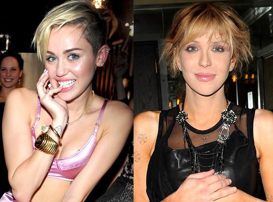 Miley Cyrus, Courtney Love