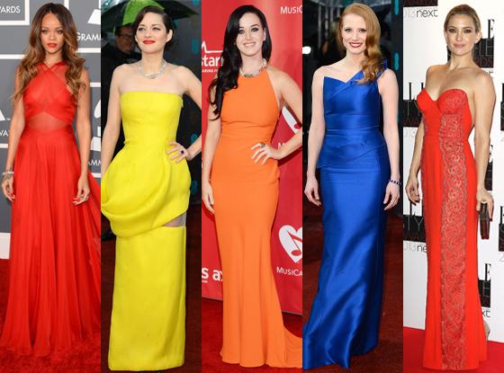 Rihanna, Jessica Chastain, Katy Perry, Kate Hudson, Marion Cotillard