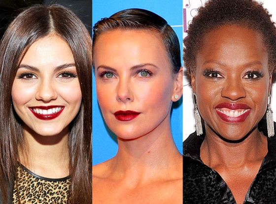 Dark Lips: Victoria Justice, Charlize Theron, Viola Davis