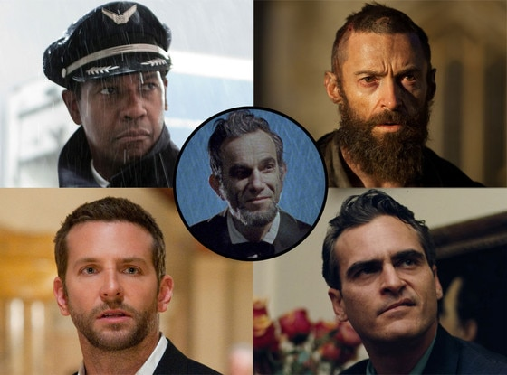 Best Actor: Denzel Washington, Hugh Jackman, Bradley Cooper, Joaquin Phoenix, Daniel Day-Lewis