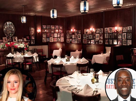 Kristen Bell, Rao's Restaurant, Don Cheadle