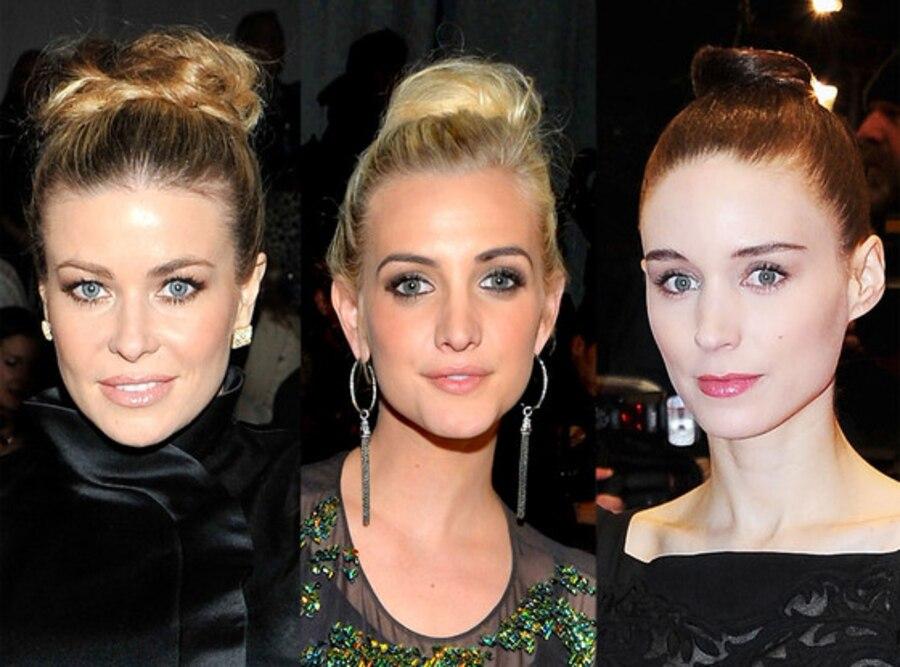 Top Knot: Carmen Electra, Ashlee Simpson, Rooney Mara