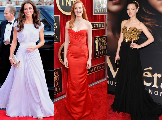 Kate Middleton, Jessica Chastain, Amanda Seyfried