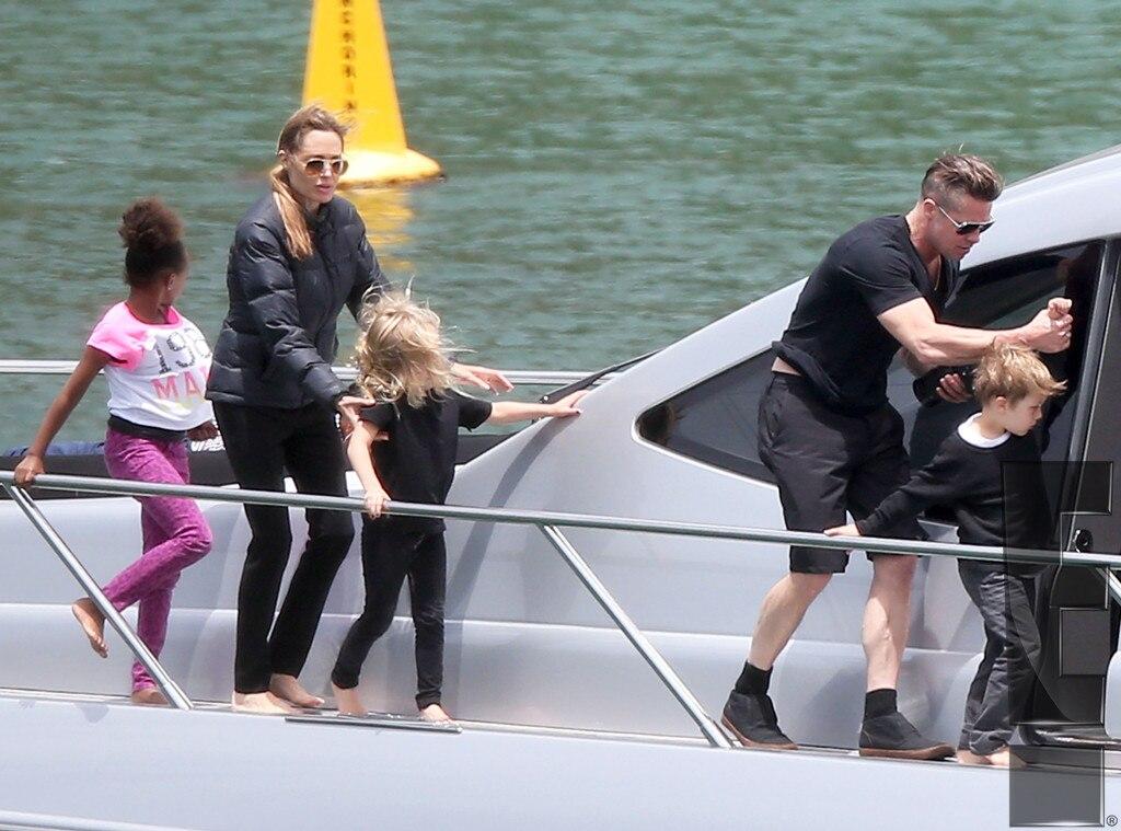 Brad Pitt, Angelina Jolie, Maddox, Zahara, Shiloh, Pax, Knox, Vivienne, EMBARGOED to 5pm PCT 12.05