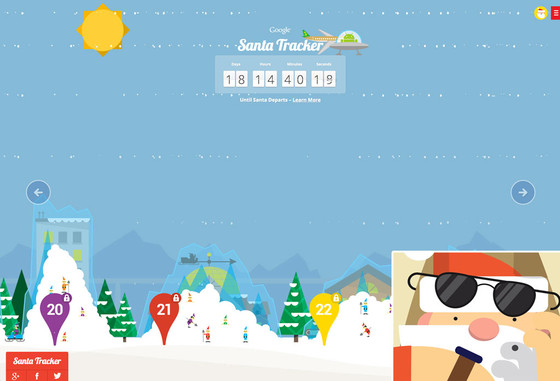 Santa Tracker, Google Maps
