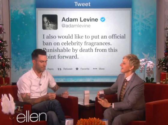 Adam Levine, Ellen Degeneres