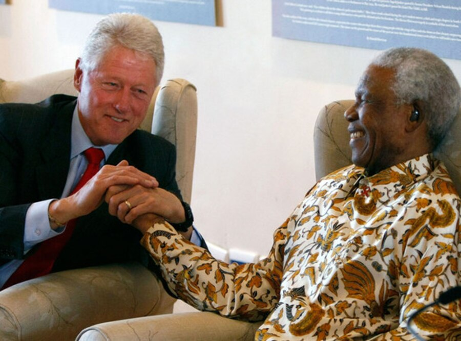 Bill Clinton, Nelson Mandela