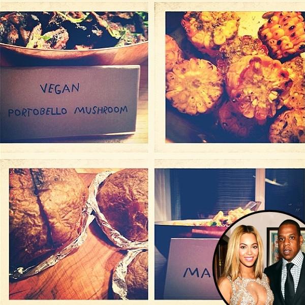 Beyonce, Jay-Z, Instagram, Vegan