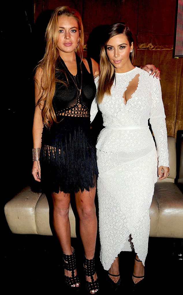Kim Kardashian, Kanye West, Lindsay Lohan, Jonathan Cheban