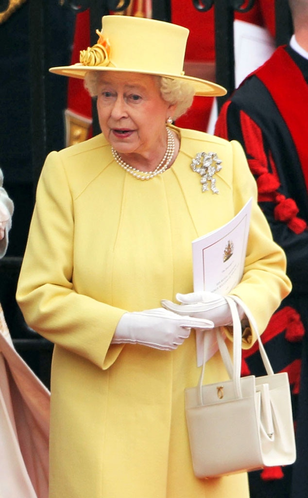 Queen Elizabeth II, Cream Colored Purse