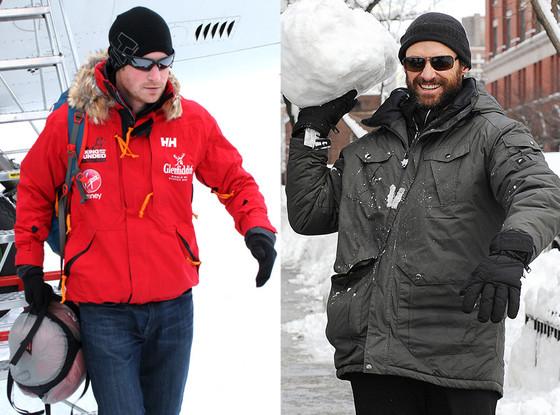 Hugh Jackman, Prince Harry, Snow
