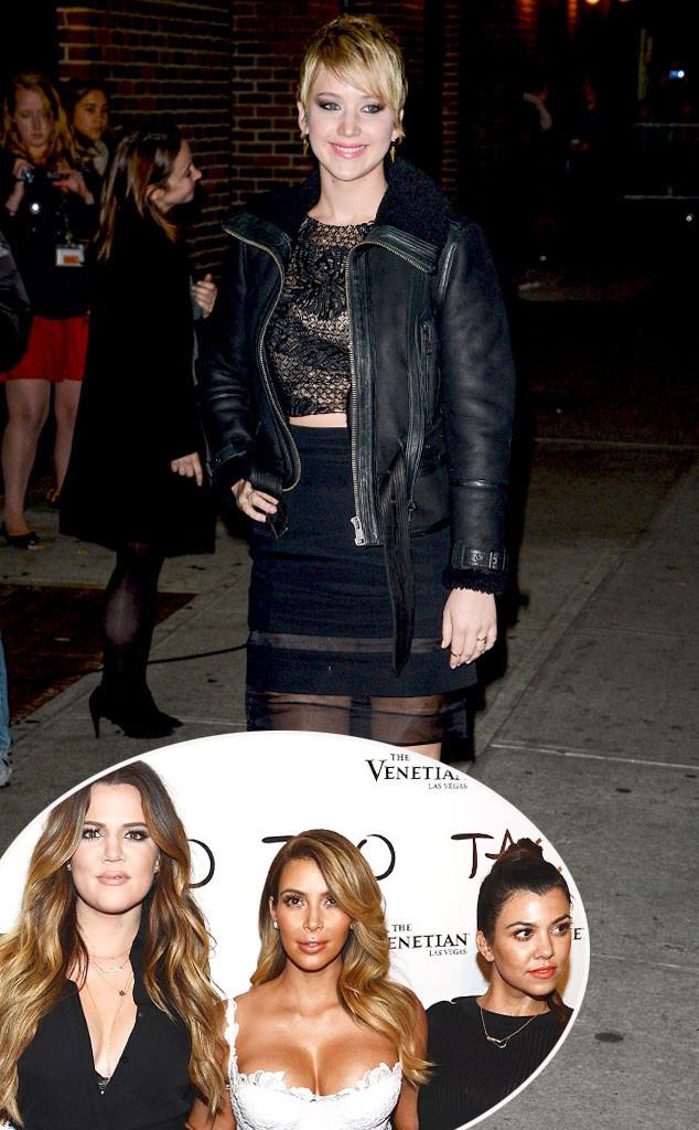 Jennifer Lawrence, Khloe Kardashian, Kim Kardashian, Kourtney Kardashian