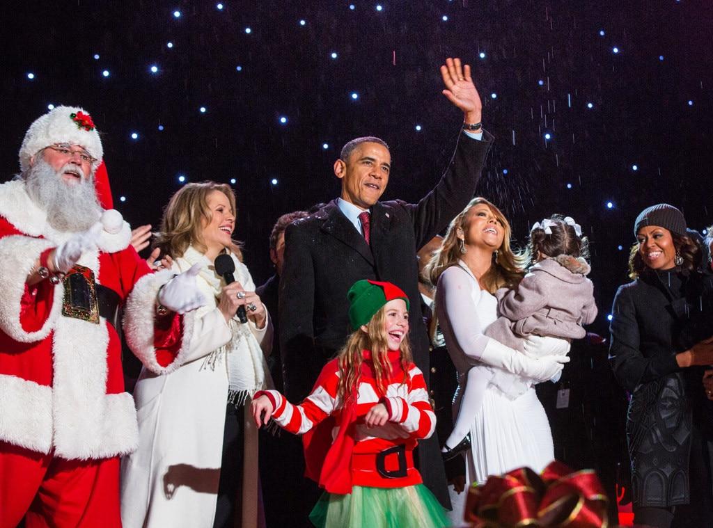 President Barack Obama, Michelle Obama, Mariah Carey