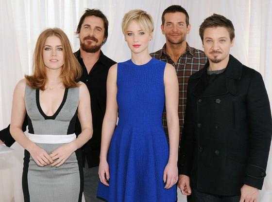 Amy Adams, Christian Bale, Jennifer Lawrence, Bradley Cooper, Jeremy Renner
