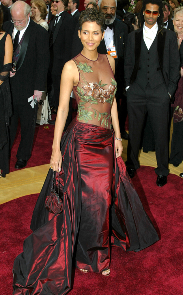 Halle Berry, Oscars, Dresses, 2002