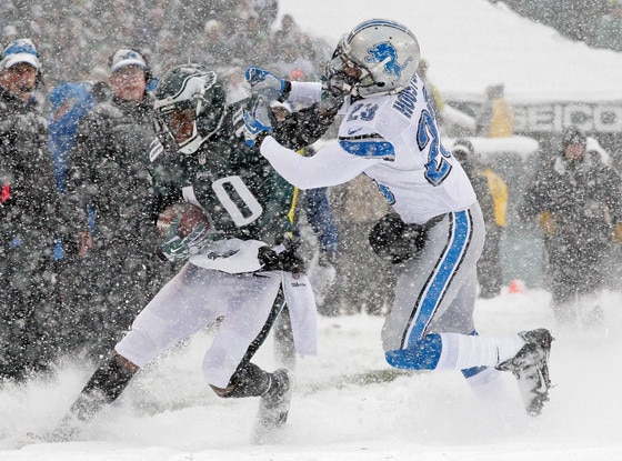 Detroit Lions, Philadelphia Eagles, Snow