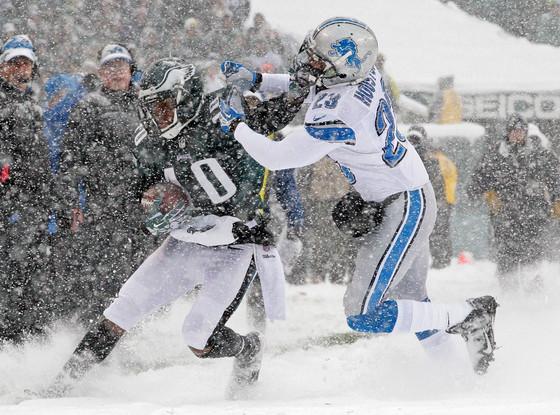 Detroit Lions, Philadelphia Eagles, Snow