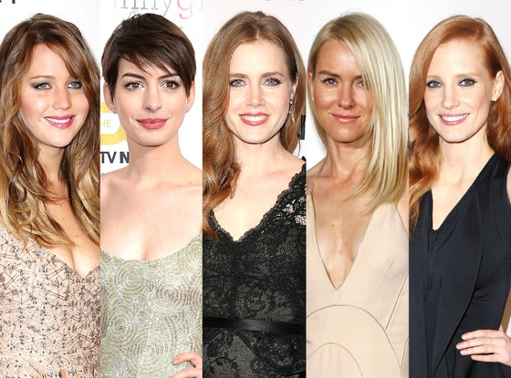 Jessica Chastain, Jennifer Lawrence, Anne Hathaway, Naomi Watts, Amy Adams