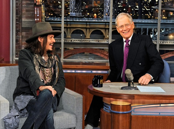 Johnny Depp, David Letterman