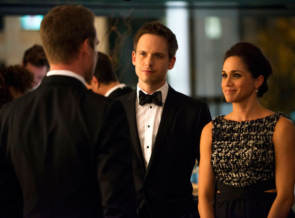 SUITS, Gabriel Macht, Patrick J. Adams, Meghan Markle