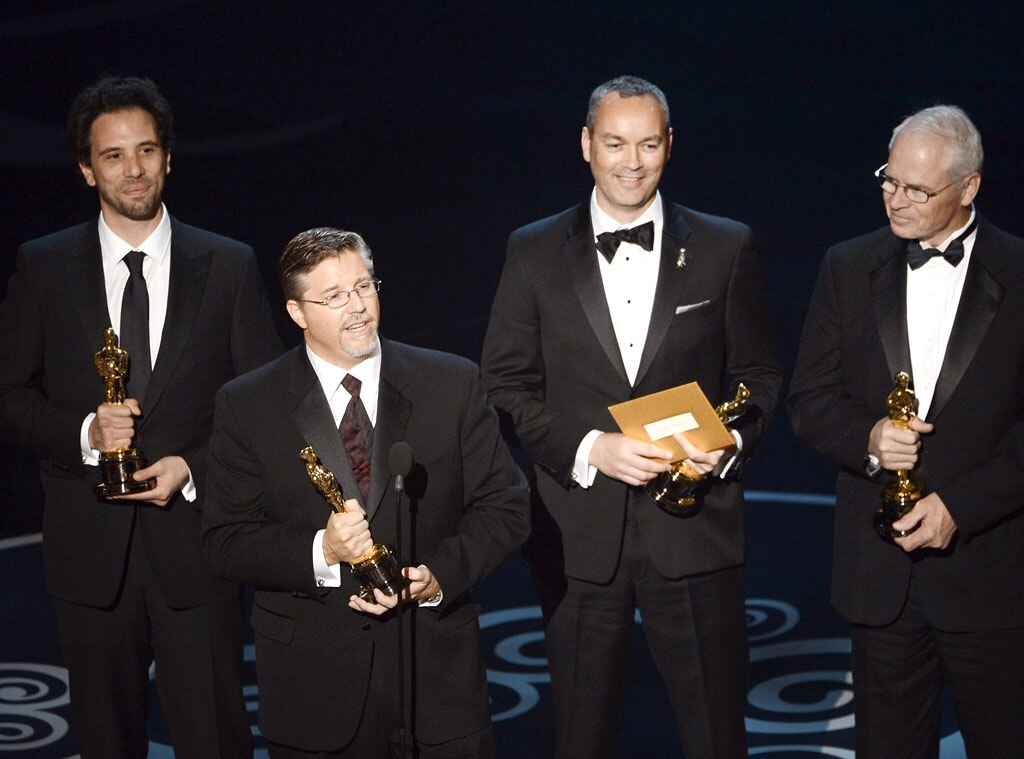 2013 Oscars Show, Best Visual Effects, Guillaume Rocheron, Bill Westenhofer, Erik-Jan De Boer, Donald R. Elliott