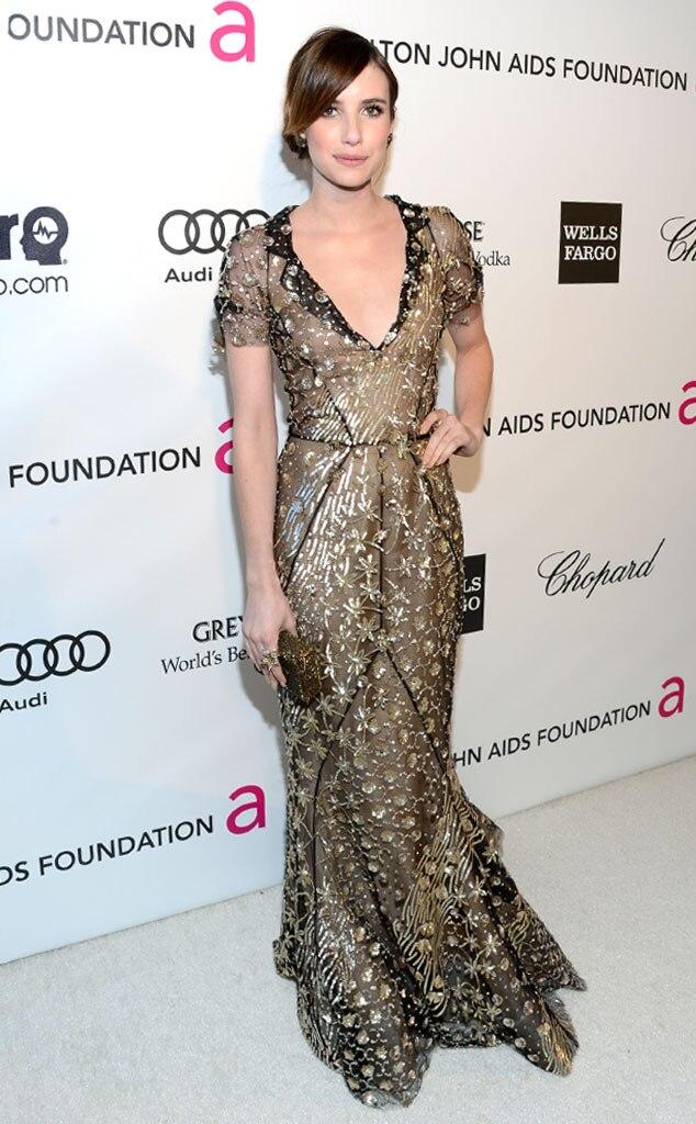 Emma Roberts, Elton John Oscars Party