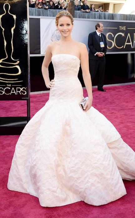 Jennifer Lawrence, Oscars, Dresses, 2013