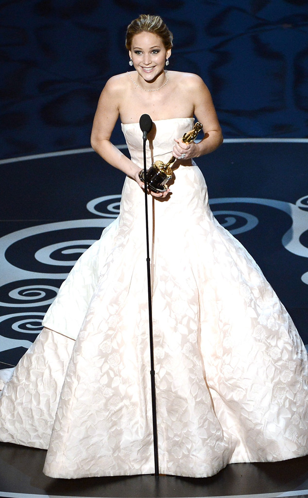 2013 Oscars Show, Jennifer Lawrence