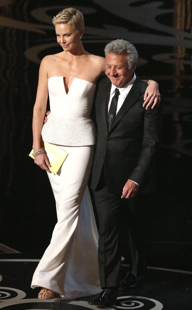 2013 Oscars Show, Dustin Hoffman, Charlize Theron