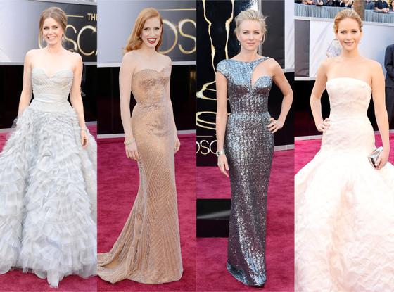 Oscars 2013, Best Dressed: Amy Adams, Jennifer Lawrence, Naomi Watts, Jessica Chastain