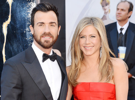 Justin Theroux, Jennifer Aniston, Oscars 2013