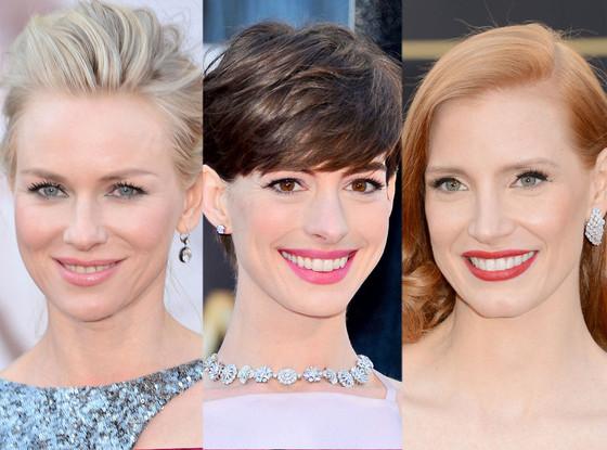 Naomi Watts, Anne Hathaway, Jessica Chastain, Oscars 2013