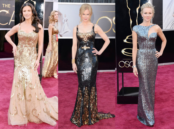 Catherine Zeta-Jones, Nicole Kidman, Naomi Watts, Oscars 2013